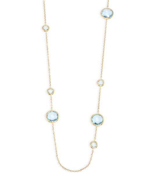 Ippolita | Multicolor Rock Candy? Blue Topaz Station Necklace | Lyst