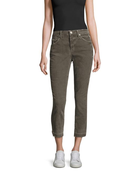 AMO | Gray Mid-rise Ankle-length Jeans | Lyst