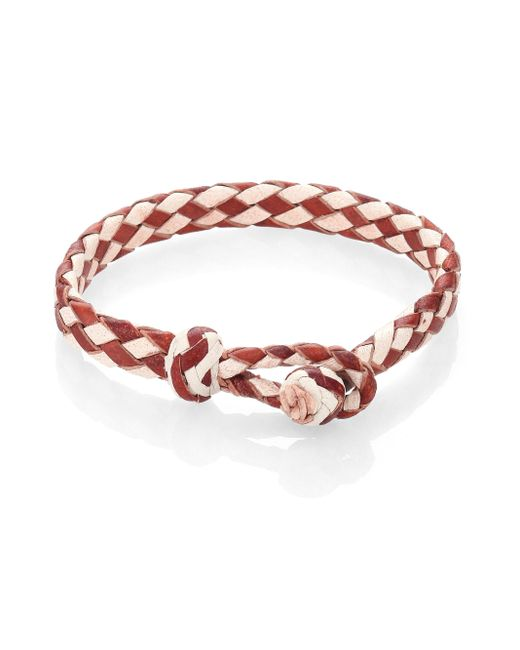 Chamula   Brown Woven Leather Bracelet   Lyst