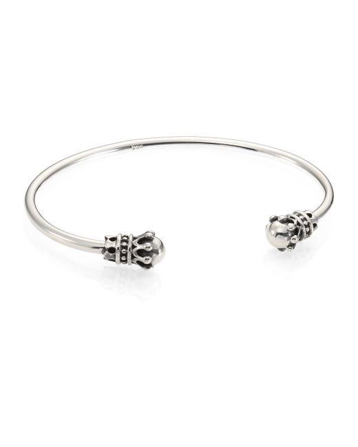 King Baby Studio | Metallic Thin Sterling Silver Crown Cuff Bracelet for Men | Lyst