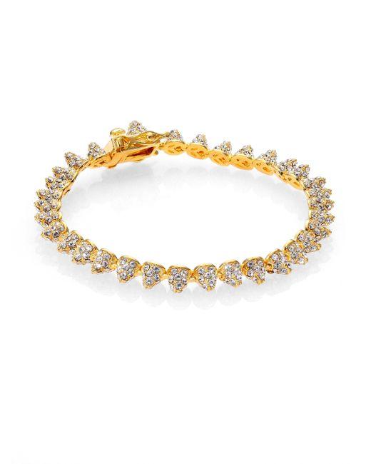 Eddie Borgo   Metallic Pave Crystal Mini Cone Bracelet/goldtone   Lyst