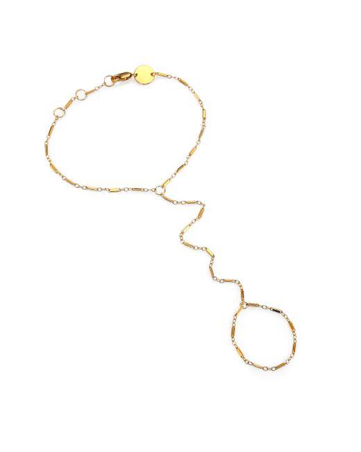 Jennifer Zeuner | Metallic Madrid Hand Chain Bracelet | Lyst