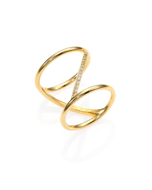 Elizabeth and James | Metallic Velde Pave White Topaz Ring | Lyst