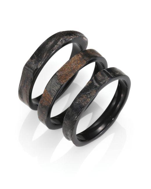 Nest | Brown Rough Horn Three-bangle Bracelet Set | Lyst