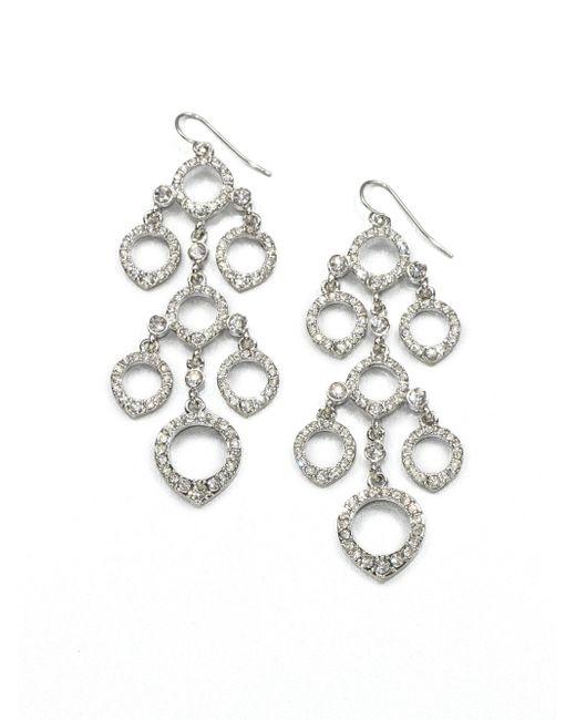 ABS By Allen Schwartz | Metallic Pave Chandelier Earrings | Lyst