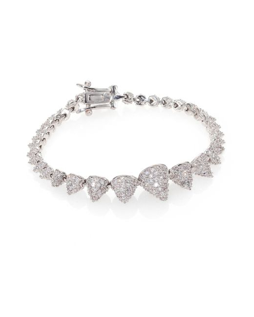 Eddie Borgo | Metallic Pave Crystal Graduated Mini Cone Bracelet | Lyst