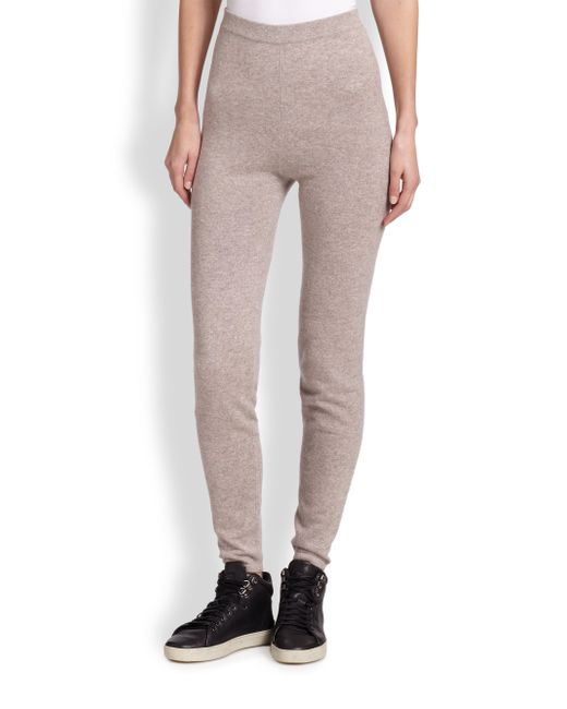 Saks Fifth Avenue | Brown Cashmere Track Pants | Lyst