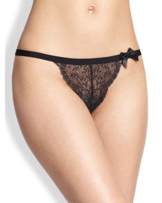 Huit | Black Nouvel Emoi Lace Thong | Lyst