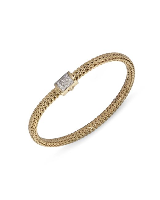 John Hardy | Metallic Classic Chain Diamond & 18k Gold Extra-small Bracelet | Lyst