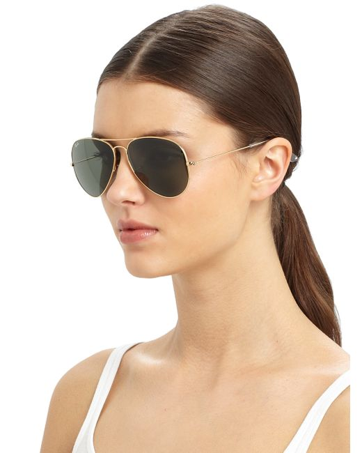 ray ban gold aviator sunglasses  Ray-ban Original Gold Aviator Sunglasses in Metallic