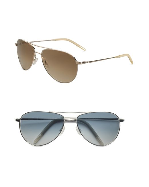 Oliver Peoples | Metallic Benedict 59mm Aviator Sunglasses | Lyst