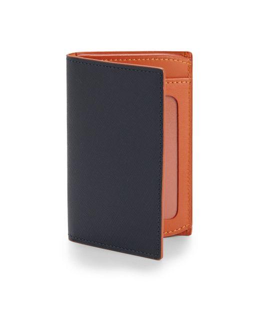 Saks Fifth Avenue | Blue Id Wallet for Men | Lyst