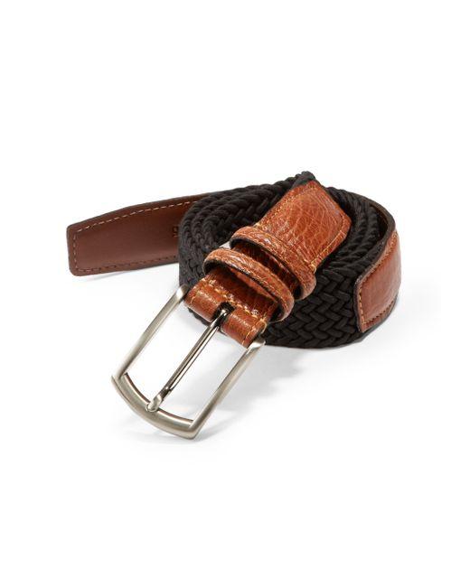 Saks Fifth Avenue | Black Stretch Leather Belt for Men | Lyst