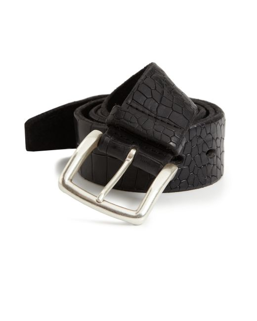 Orciani | Black Embossed Leather Belt | Lyst