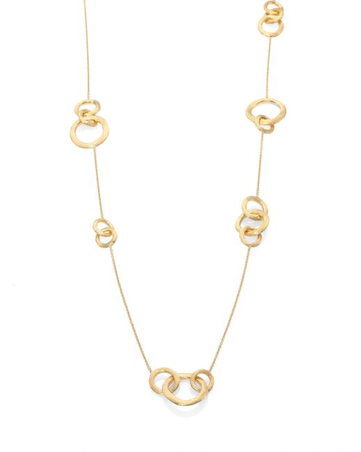 Marco Bicego | Metallic Jaipur Link 18k Yellow Gold Station Necklace | Lyst