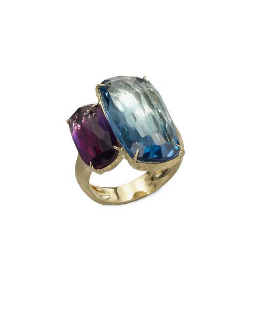 Marco Bicego | Murano London Blue Topaz, Amethyst & 18k Yellow Gold Ring | Lyst