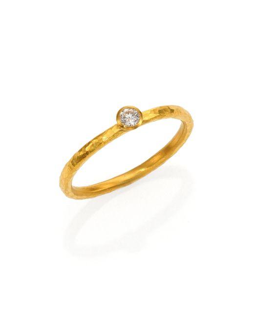Gurhan | Metallic Delicacies Diamond & 24k Yellow Gold Skittle Stacking Ring | Lyst