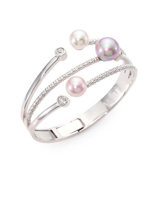 Majorica   Metallic 10mm-12mm Multicolor Round Pearl Bangle Bracelet   Lyst