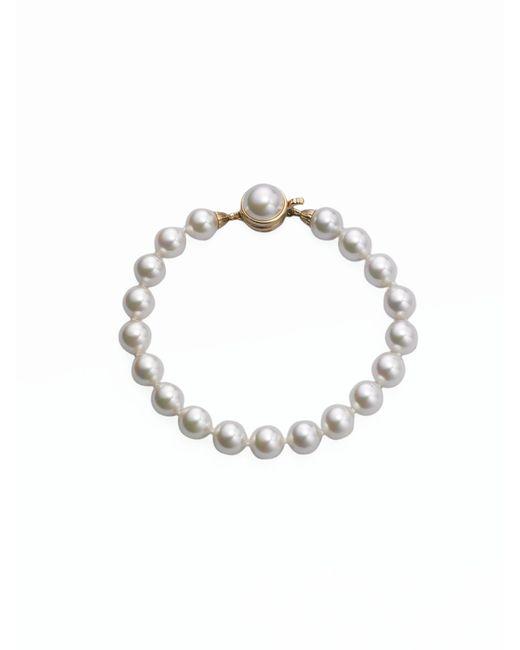 Majorica | 8mm White Pearl Strand Bracelet | Lyst