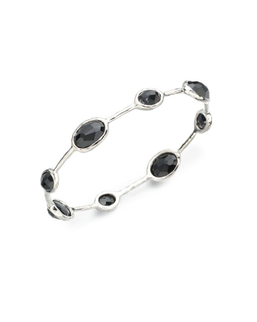 Ippolita | Metallic Rock Candy Black Onyx & Sterling Silver Station Bangle Bracelet | Lyst