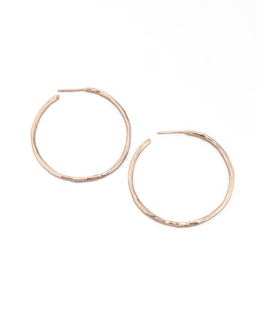 Ippolita | Metallic Rose #3 Hammered Hoop Earrings/1.75 | Lyst