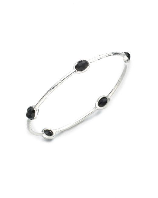 Ippolita | Rock Candy Black Onyx & Sterling Silver Five-stone Bangle Bracelet | Lyst