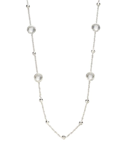 Ippolita | Metallic Clear Quartz Sterling Silver Station Necklace | Lyst