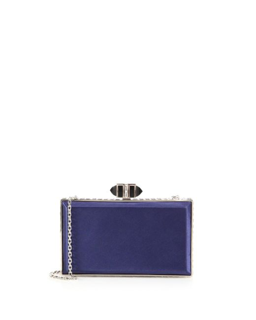 Judith Leiber Couture | Blue Satin Minaudiere | Lyst