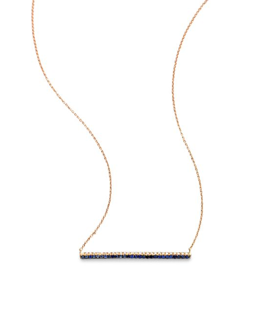 Diane Kordas | Pink Diamond, Sapphire & 18k Rose Gold Bar Necklace | Lyst