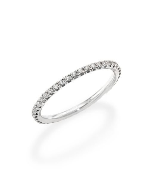 De Beers | Metallic Aura Diamond & 18k White Gold Band Ring | Lyst