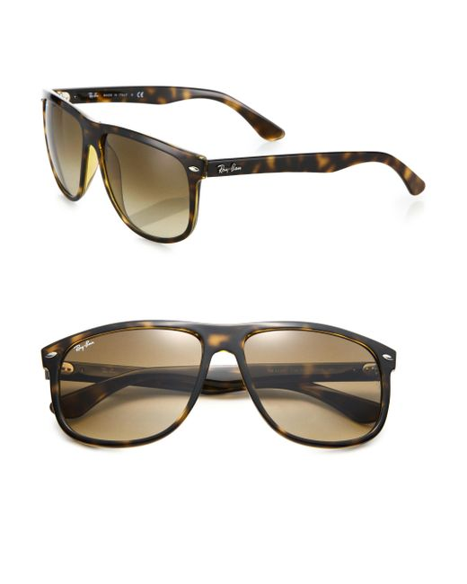 Ray-Ban | Brown Flat Top Boyfriend Wayfarer Sunglasses for Men | Lyst