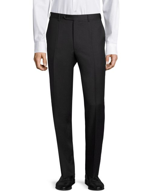 Canali | Gray Regular-fit Wool Pants for Men | Lyst