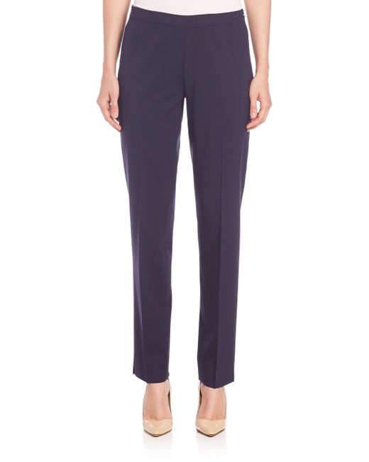 Lafayette 148 New York | Blue Bleecker Stretch Wool Pants | Lyst