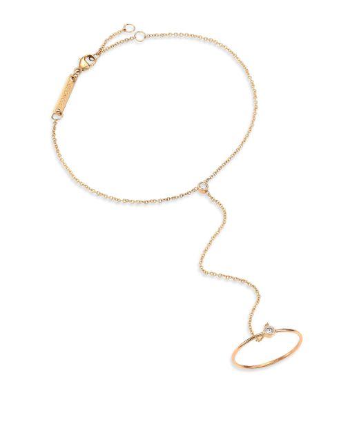 Zoe Chicco | Metallic Diamond & 14k Yellow Gold Hand Chain Bracelet | Lyst