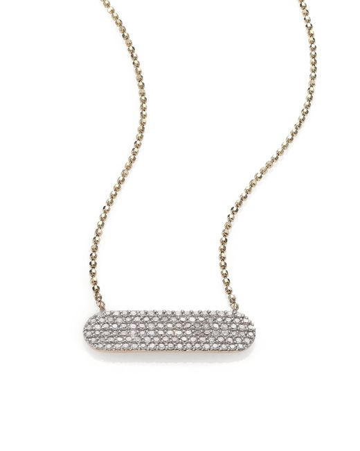 Phillips House | Affair Diamond & 14k Yellow Gold Infinity Bar Necklace | Lyst