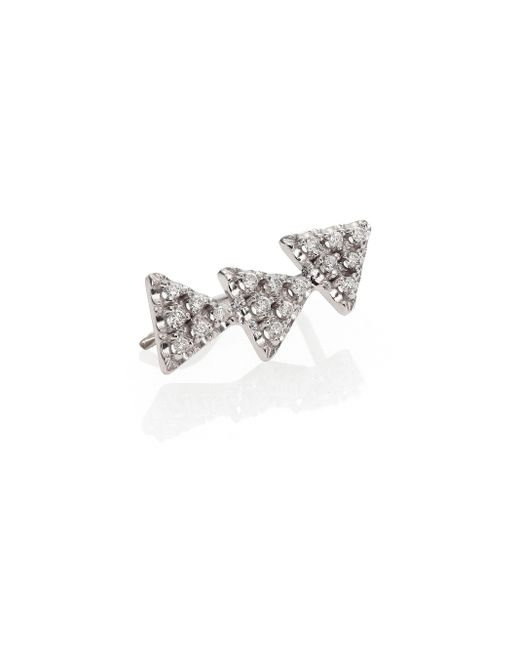 Zoe Chicco | Diamond & 14k White Gold Triangle Single Ear Shield | Lyst