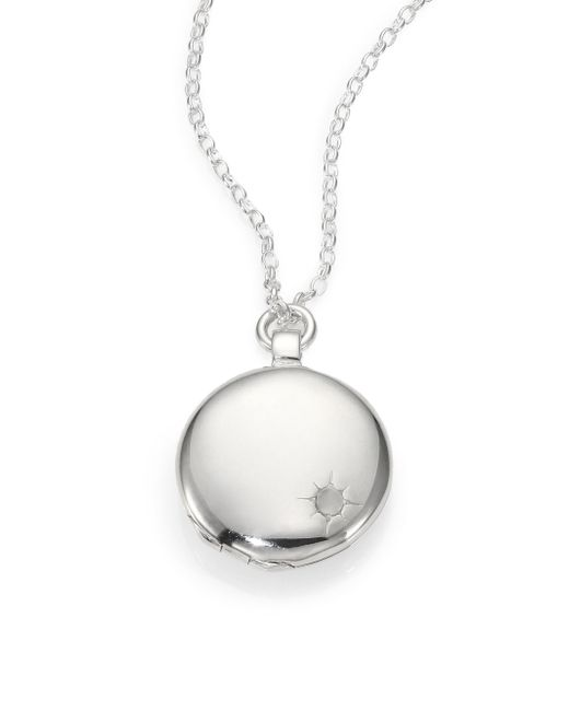 Astley Clarke | Metallic Sterling Silver Astley Locket Necklace | Lyst