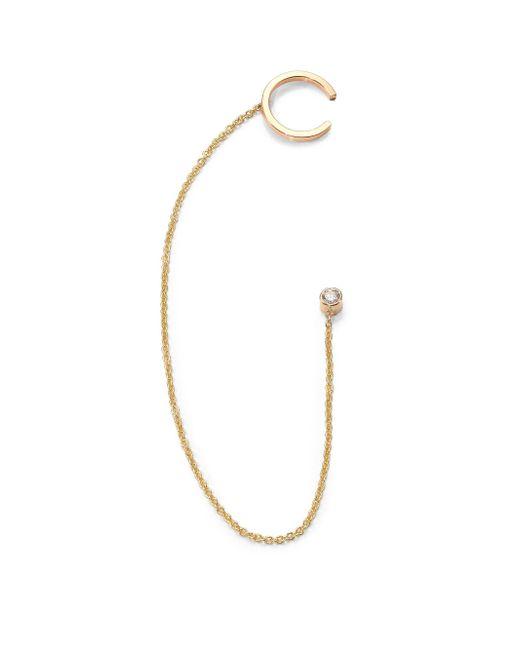 Zoe Chicco   Metallic Diamond & 14k Yellow Gold Chain Single Cuff Earring   Lyst