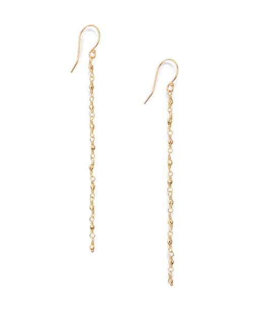 Mizuki | Metallic Core 14k Yellow Star Beaded Drop Earrings | Lyst