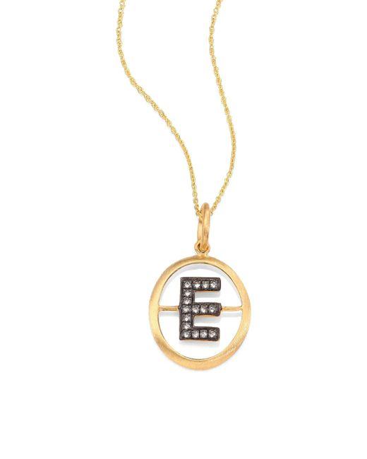 Annoushka | Metallic Initial Diamond & 18k Yellow Gold Pendant | Lyst