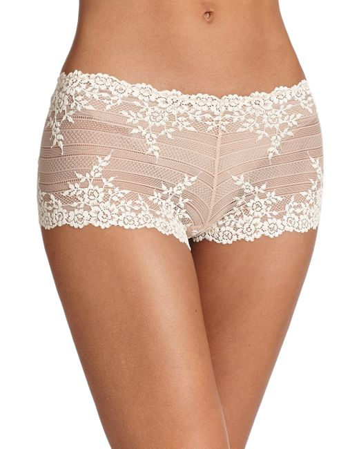 Wacoal | Natural Embrace Floral Boyshort | Lyst