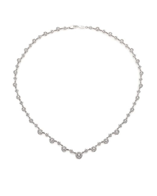 Kwiat | Sunburst Diamond & 18k White Gold Tennis Necklace | Lyst