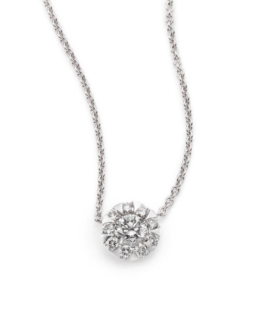 Kwiat | Sunburst Diamond & 18k White Gold Pendant Necklace | Lyst