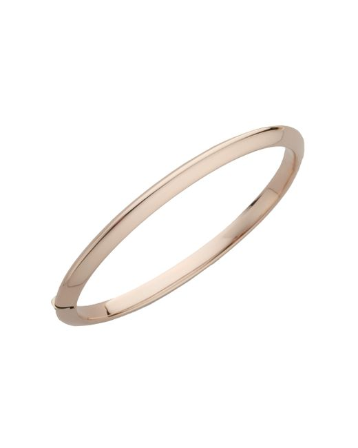 Roberto Coin | Metallic Classica 18k Rose Gold Knife-edge Bangle Bracelet | Lyst
