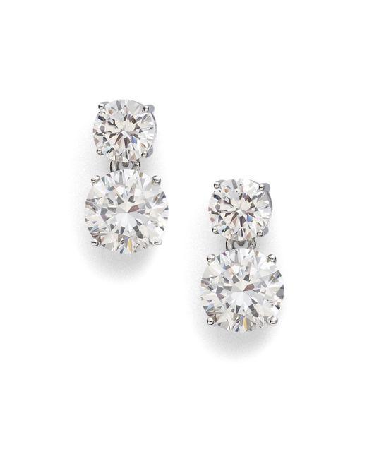Adriana Orsini | Metallic Double Stud Drop Earrings | Lyst