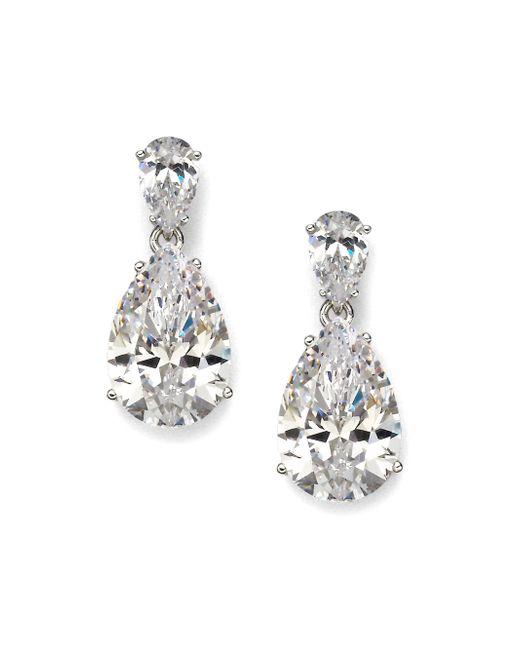 Adriana Orsini | Green Sterling Silver Pear Drop Earrings | Lyst