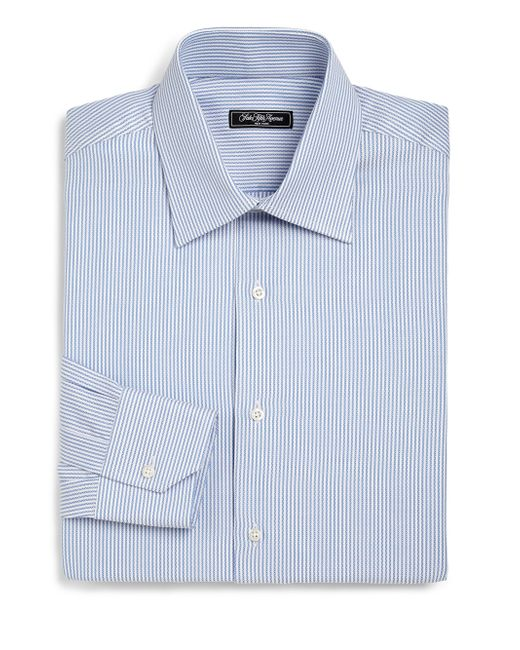 Saks Fifth Avenue | Blue Regular-fit Bengal Stripe Dress Shirt for Men | Lyst