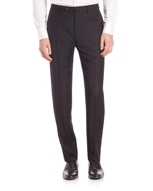 Incotex | Black Bill Luxe Twill Dress Pants for Men | Lyst