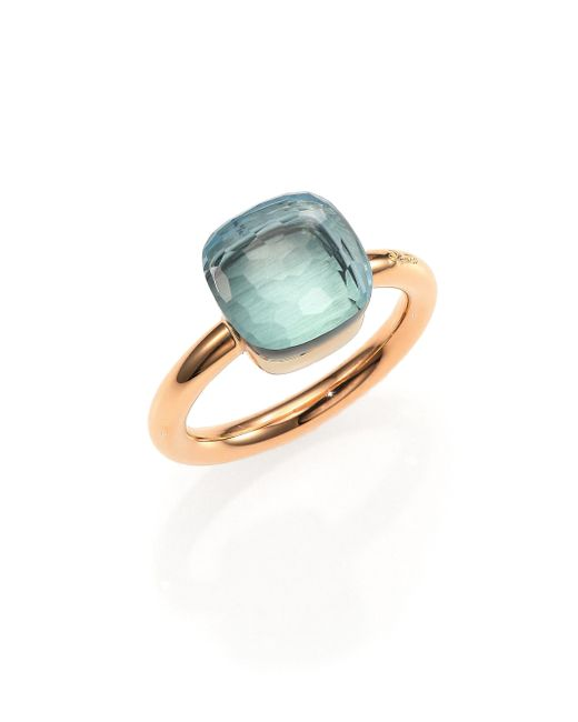 Pomellato | Nudo Blue Topaz & 18k Rose Gold Ring | Lyst