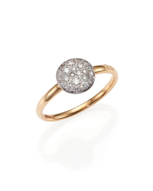 Pomellato | Metallic Sabbia Diamond & 18k Rose Gold Small Ring | Lyst